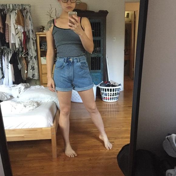 c841bc74 Zara high waisted denim Mom shorts jean vintage s.  M_5b6738748869f78a2f3d7968